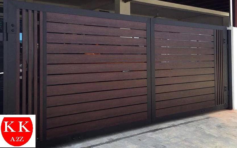 Door Gate Aluminium I Aluminium GateI Wood Grain I Sabah I Malaysia